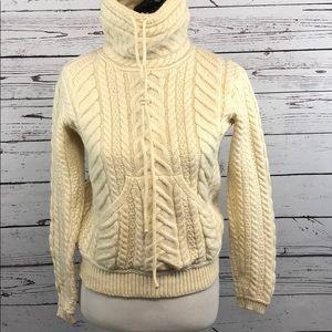 Aran Mor Ireland Sweater Merino Wool S Fisherman